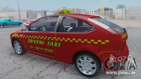 Ford Focus ST Taxi pour GTA San Andreas sur la vue arrière gauche