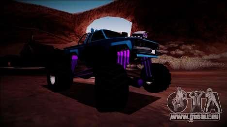 GTA 5 Karin Rebel Monster Truck pour GTA San Andreas sur la vue arrière gauche