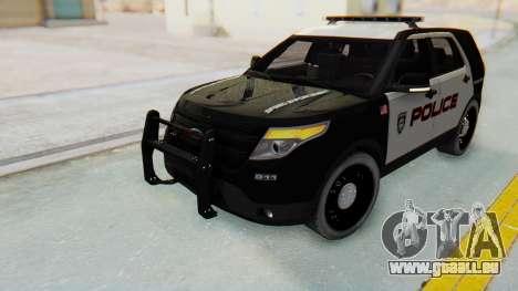 Ford Explorer Police für GTA San Andreas rechten Ansicht