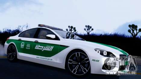 BMW M6 F13 Gran Coupe 2014 Dubai Police pour GTA San Andreas