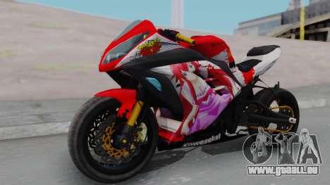 Kawasaki Ninja FI Custom Rias Gremory Itasha für GTA San Andreas rechten Ansicht