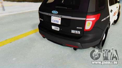 Ford Explorer Police für GTA San Andreas Rückansicht