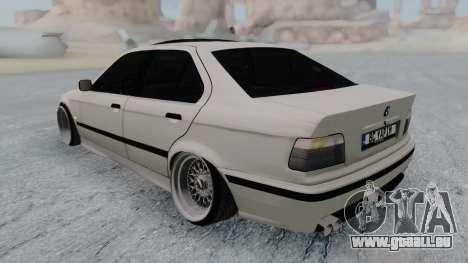 BMW 3-er E36 für GTA San Andreas zurück linke Ansicht