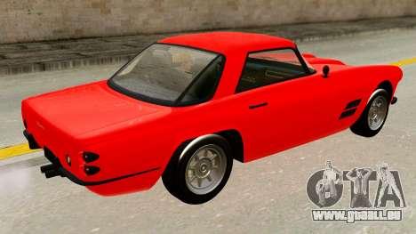 Casco from GTA 5 pour GTA San Andreas sur la vue arrière gauche