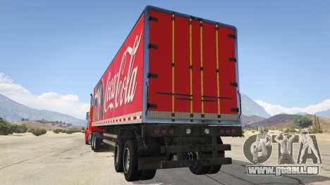 GTA 5 Coca Cola Truck v1.1 hinten links Seitenansicht