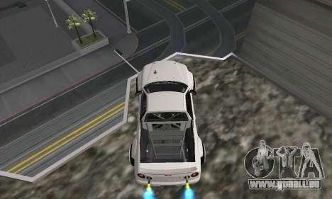 Nissan Skyline R34 Pickup pour GTA San Andreas sur la vue arrière gauche