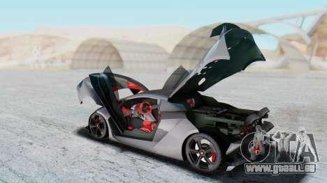 Lamborghini Sesto Elemento 2010 pour GTA San Andreas vue intérieure