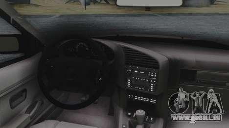 BMW 3-er E36 pour GTA San Andreas vue arrière