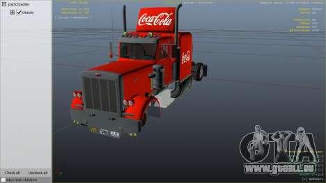 GTA 5 Coca Cola Truck v1.1 droite vue latérale