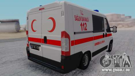 Fiat Ducato Turkish Ambulance für GTA San Andreas linke Ansicht