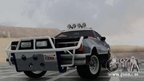 Virgo v1.0 pour GTA San Andreas sur la vue arrière gauche