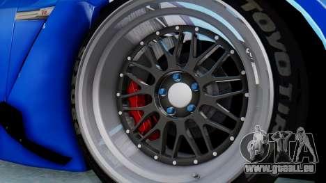Nissan GT-R R35 Rocket Bunny pour GTA San Andreas vue arrière