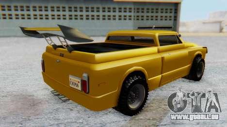 Slamvan v1.0 pour GTA San Andreas sur la vue arrière gauche