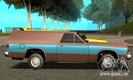 Picador Vagon Extreme pour GTA San Andreas laissé vue