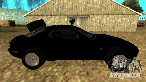 Mazda RX-7 Rusty Rebel pour GTA San Andreas vue intérieure