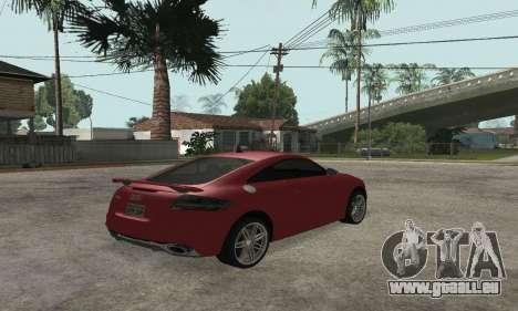 Audi TT-RS Tunable pour GTA San Andreas laissé vue