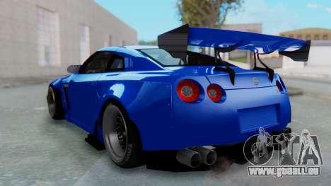 Nissan GT-R R35 Rocket Bunny für GTA San Andreas linke Ansicht