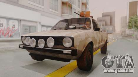 Volkswagen Caddy Military Vehicle pour GTA San Andreas vue de droite