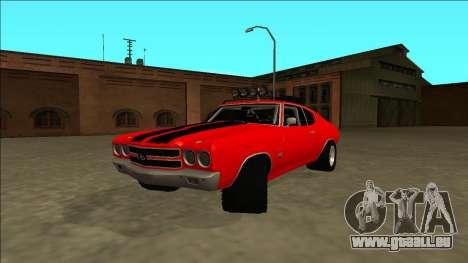 Chevrolet Chevelle Rusty Rebel pour GTA San Andreas sur la vue arrière gauche