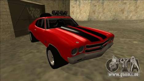 Chevrolet Chevelle Rusty Rebel pour GTA San Andreas laissé vue