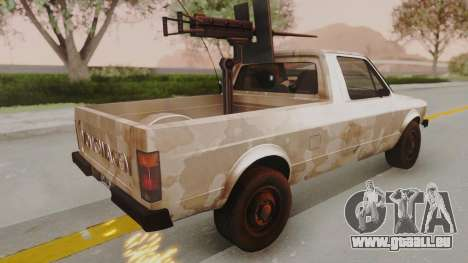 Volkswagen Caddy Military Vehicle pour GTA San Andreas laissé vue