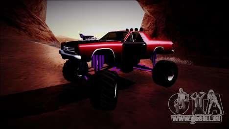 Picador Monster Truck pour GTA San Andreas laissé vue