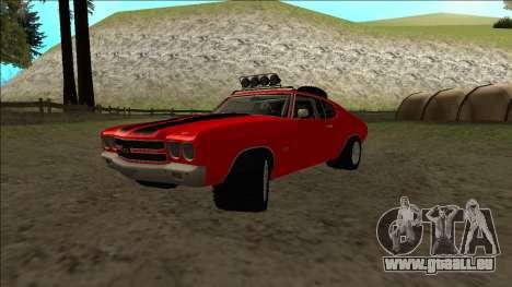 Chevrolet Chevelle Rusty Rebel für GTA San Andreas Rückansicht