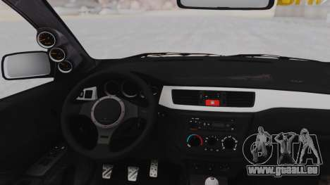 Mitsubishi Lancer Evo IX MR Tobiichi Origami für GTA San Andreas Rückansicht