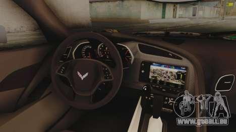 Chevrolet Corvette Stingray C7 2014 Sticker Bomb für GTA San Andreas rechten Ansicht