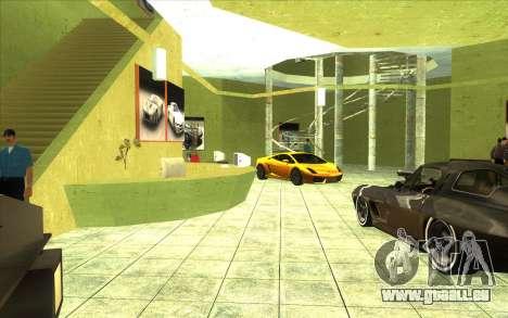La reprise de la concession de voitures Ottos au pour GTA San Andreas troisième écran