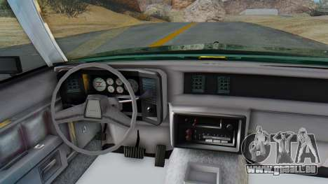 Chevrolet Malibu 1981 Twin Turbo pour GTA San Andreas vue arrière