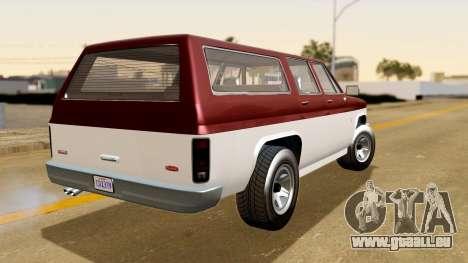 GTA 5 Declasse Rancher XL IVF pour GTA San Andreas laissé vue