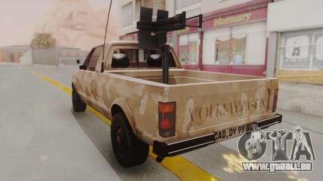 Volkswagen Caddy Military Vehicle pour GTA San Andreas sur la vue arrière gauche