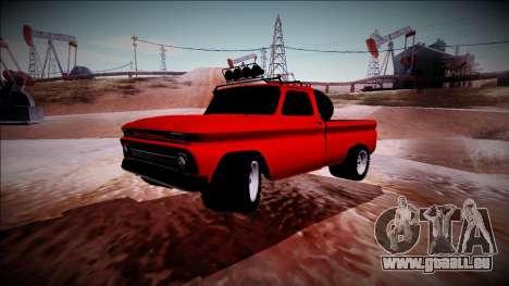 Chevrolet C10 Rusty Rebel pour GTA San Andreas vue arrière