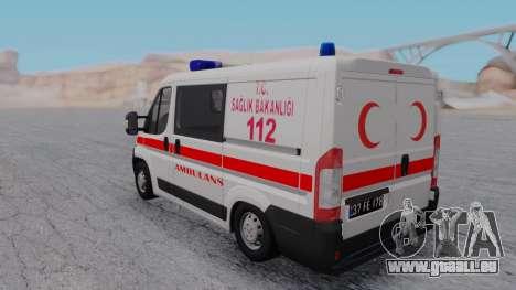 Fiat Ducato Turkish Ambulance pour GTA San Andreas vue de droite