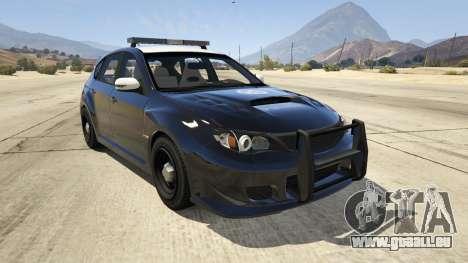LAPD Subaru Impreza WRX STI für GTA 5