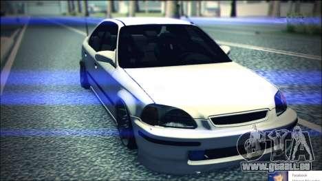 Honda Civic by Snebes pour GTA San Andreas vue arrière