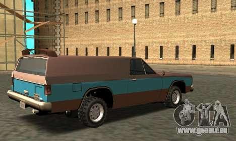 Picador Vagon Extreme pour GTA San Andreas vue de droite