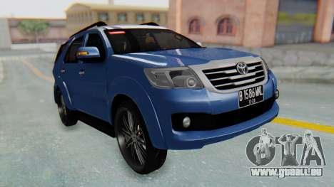 Toyota Fortuner TRD Sportivo Vossen für GTA San Andreas rechten Ansicht