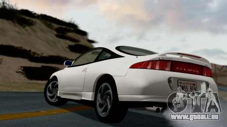 Mitsubishi Eclipse GST 1995 pour GTA San Andreas sur la vue arrière gauche