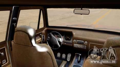 GTA 5 Declasse Rancher XL IVF pour GTA San Andreas sur la vue arrière gauche