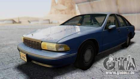 Chevrolet Caprice 1993 pour GTA San Andreas sur la vue arrière gauche