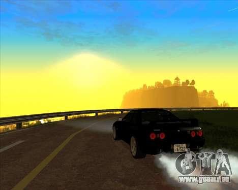 Nissan Skyline GT-R BNR32 Initial D Legend 2 N.K pour GTA San Andreas vue intérieure