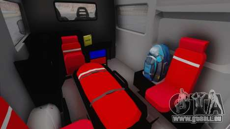 Fiat Ducato Turkish Ambulance pour GTA San Andreas vue arrière