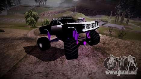 Picador Monster Truck pour GTA San Andreas vue de dessus