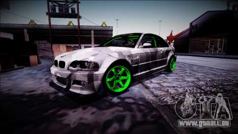 BMW M3 E46 Drift Monster Energy für GTA San Andreas Innenansicht