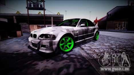 BMW M3 E46 Drift Monster Energy pour GTA San Andreas vue intérieure