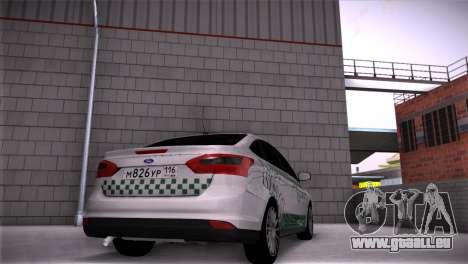 Ford Focus Taxi Tatarstan für GTA San Andreas linke Ansicht