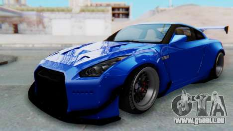 Nissan GT-R R35 Rocket Bunny für GTA San Andreas zurück linke Ansicht