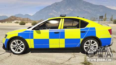 2014 Police Skoda Octavia VRS Hatchback für GTA 5